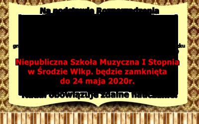 Rozporządzenie MEN – szkoła zamknięta do 24 maja.