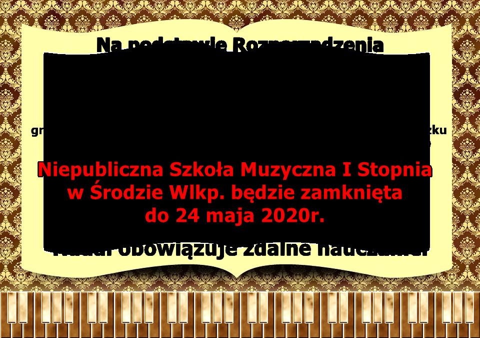 , Rozporządzenie MEN – szkoła zamknięta do 24 maja.
